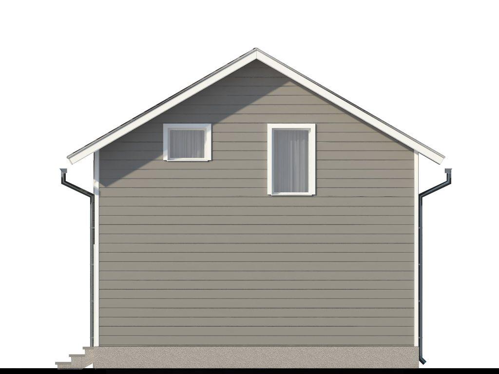 Проект двухэтажного гаража на 2 машины площадью 100 м2 - фасад фото 3