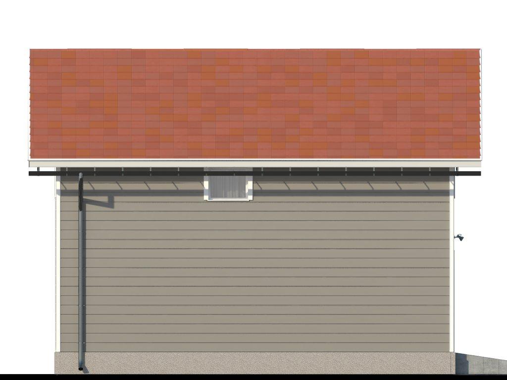 Проект двухэтажного гаража на 2 машины площадью 100 м2 - фасад фото 4