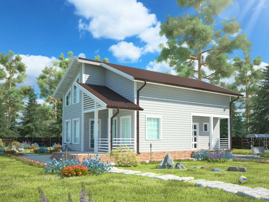 Проект дома для большой семьи площадью 183 м2