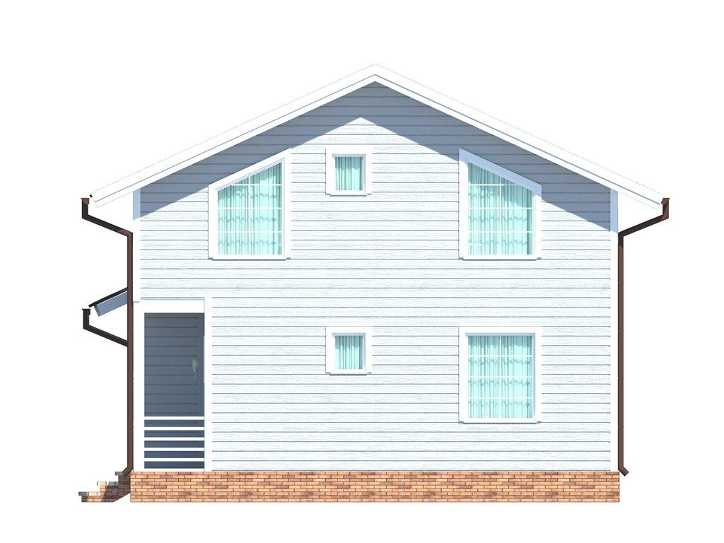 Проект дома для большой семьи площадью 183 м2 - фасад фото 2