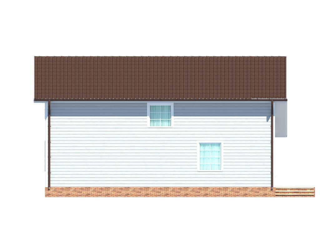 Проект дома для большой семьи площадью 183 м2 - фасад фото 3