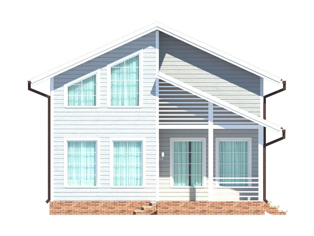 Проект дома для большой семьи площадью 183 м2 - фасад фото 4