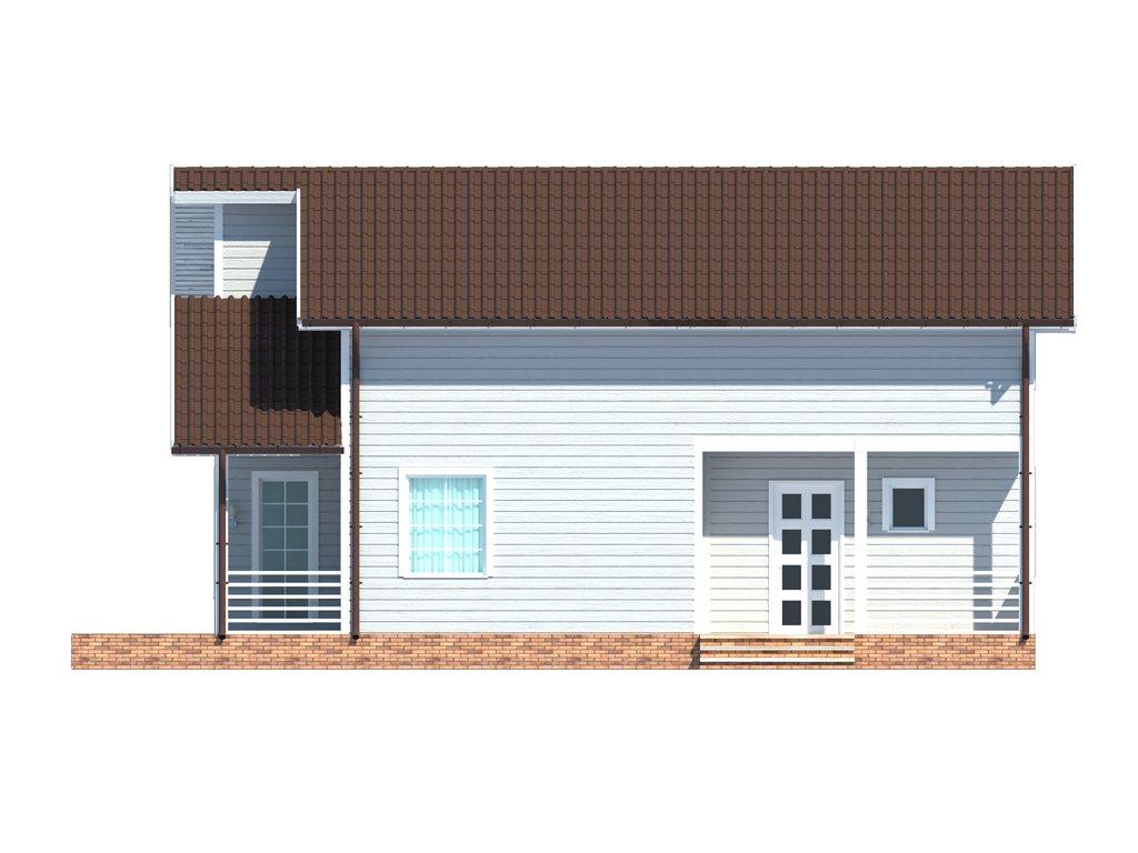Проект дома для большой семьи площадью 183 м2 - фасад фото 1