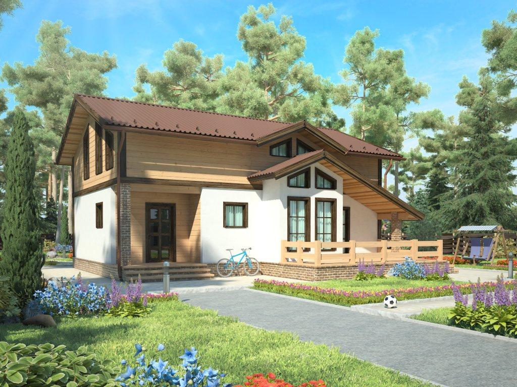 Проект дома в стиле шале площадью 160 кв.м