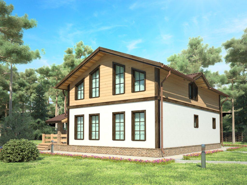 Проект дома в стиле шале площадью 160 кв.м - фото 2