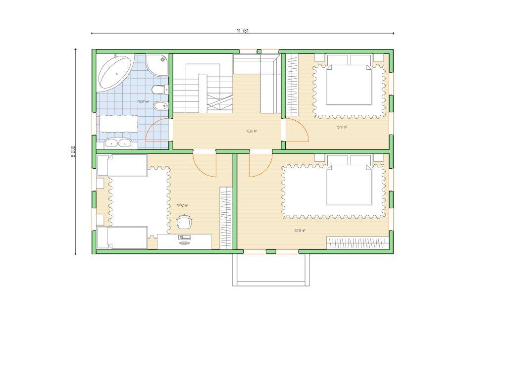 Проект дома в стиле шале площадью 160 кв.м - планировка фото 2