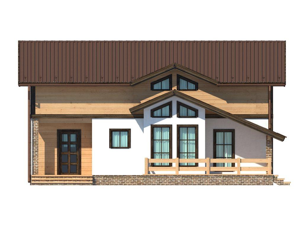 Проект дома в стиле шале площадью 160 кв.м - фасад фото 1