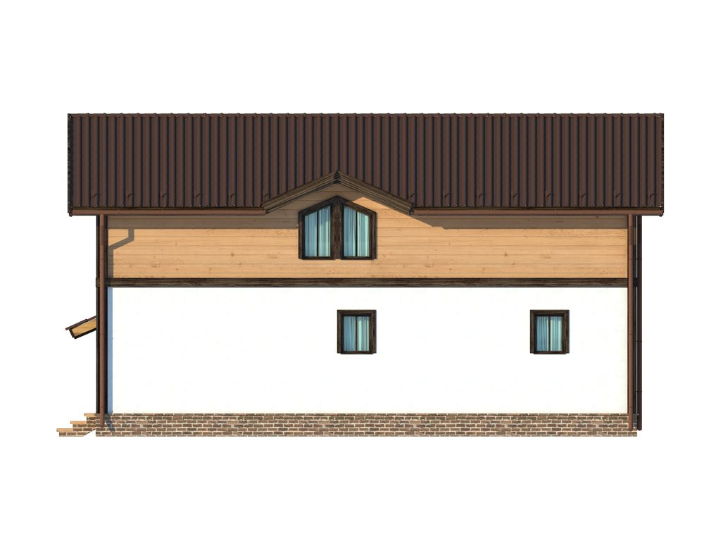 Проект дома в стиле шале площадью 160 кв.м - фасад фото 3
