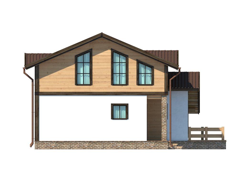 Проект дома в стиле шале площадью 160 кв.м - фасад фото 4