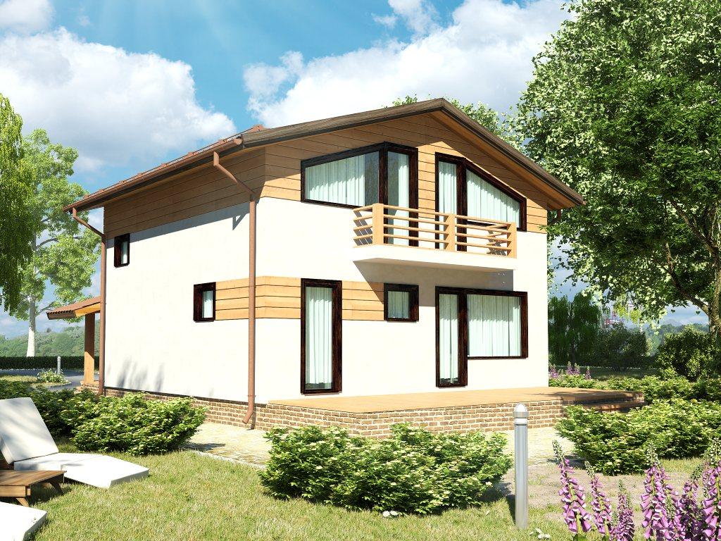 Проект каркасного дома 8х8 с мансардой площадью 112 м2 - фото 2