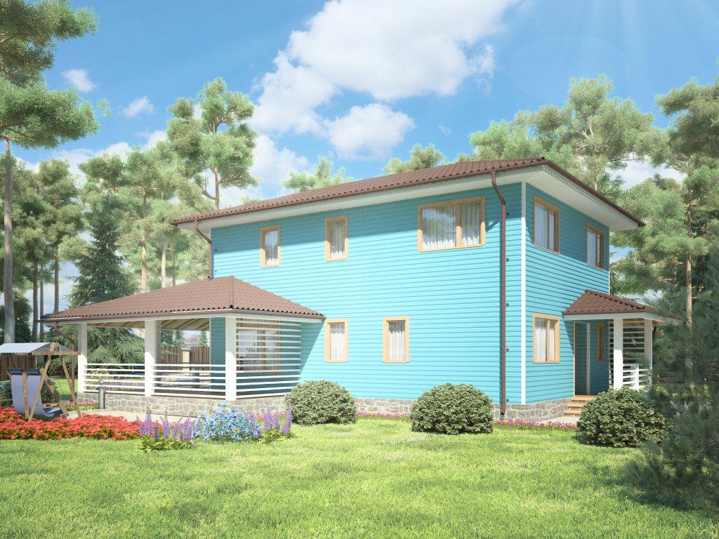 Проект двухэтажного каркасного дома площадью 139 м2 - фото 2