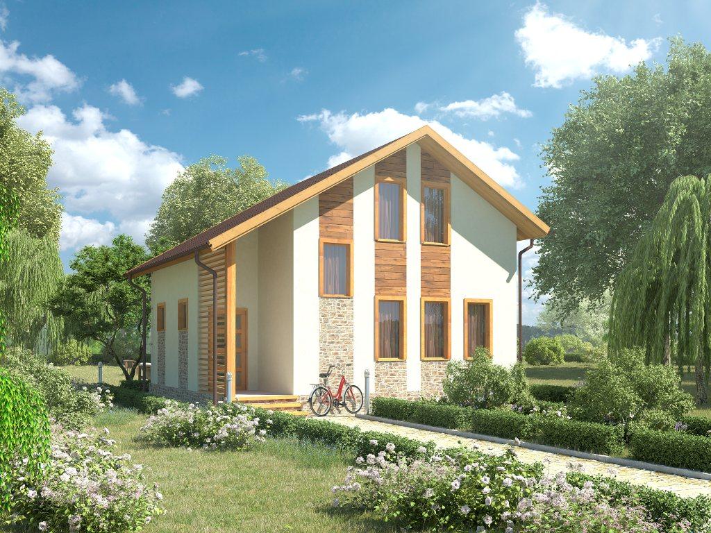 Проект небольшого уютного дома площадью 92 м2