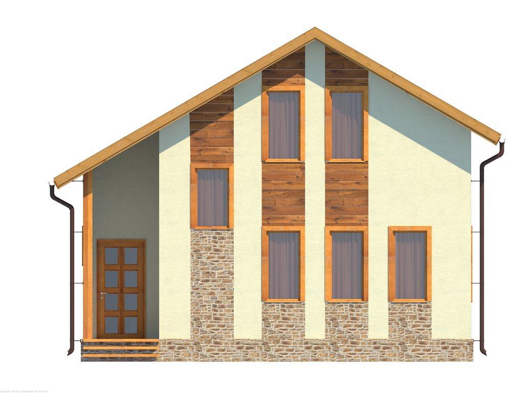 Проект небольшого уютного дома площадью 92 м2 - фасад фото 1