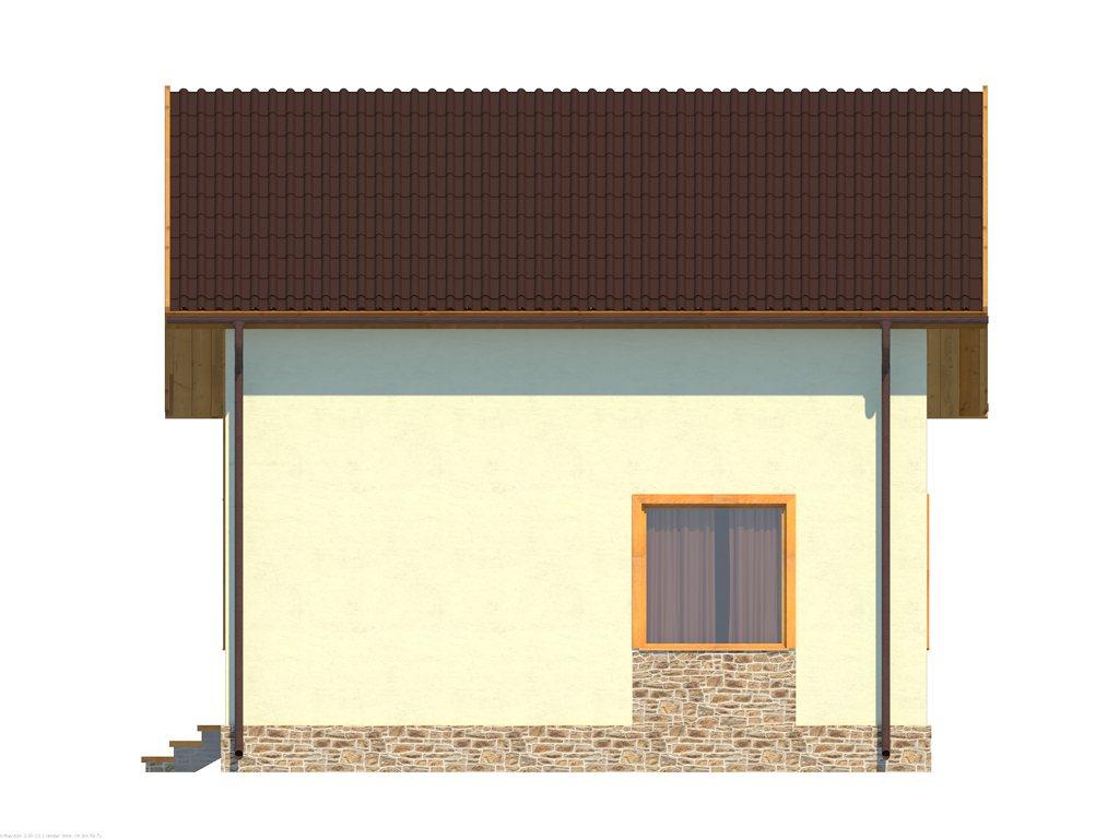 Проект небольшого уютного дома площадью 92 м2 - фасад фото 2