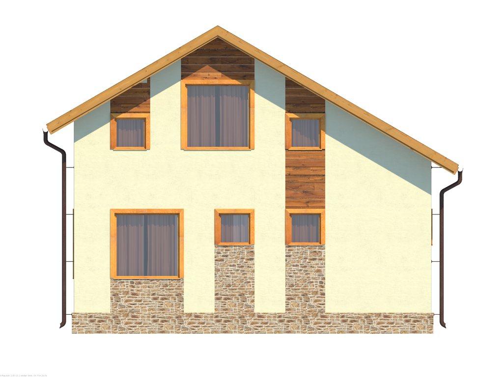 Проект небольшого уютного дома площадью 92 м2 - фасад фото 3