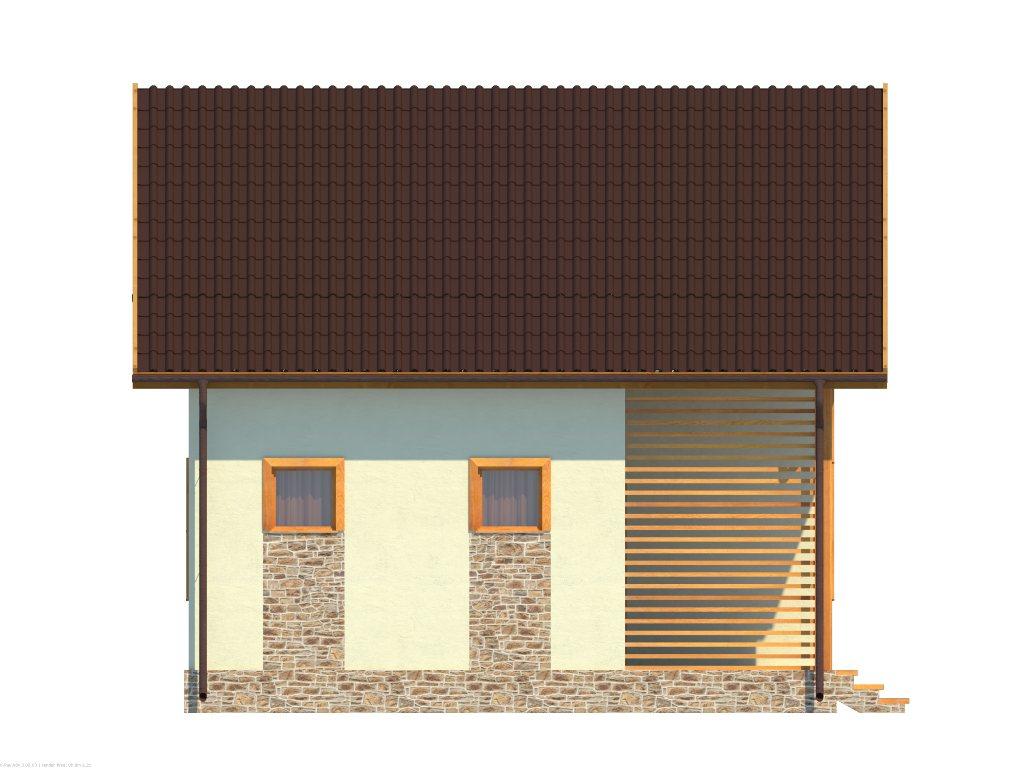 Проект небольшого уютного дома площадью 92 м2 - фасад фото 4