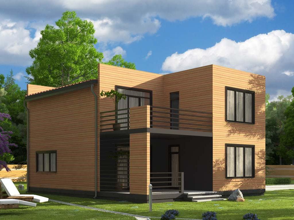 Проект дома в современном стиле площадью 186 м2