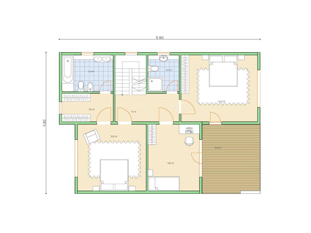 Проект дома в современном стиле площадью 186 м2 - планировка фото 2