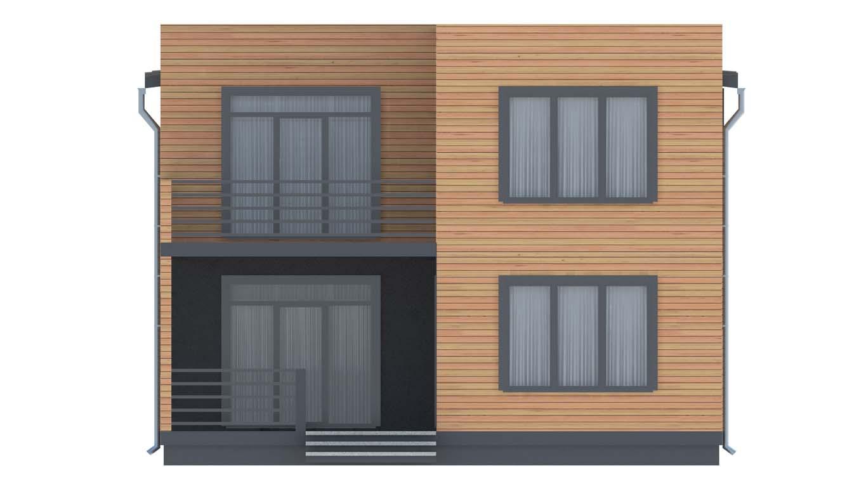 Проект дома в современном стиле площадью 186 м2 - фасад фото 2