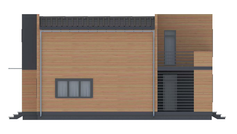 Проект дома в современном стиле площадью 186 м2 - фасад фото 3