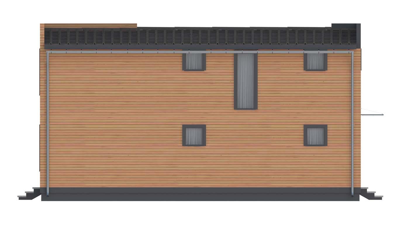 Проект дома в современном стиле площадью 186 м2 - фасад фото 4