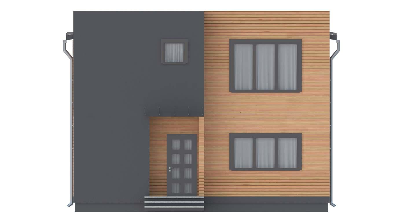 Проект дома в современном стиле площадью 186 м2 - фасад фото 1