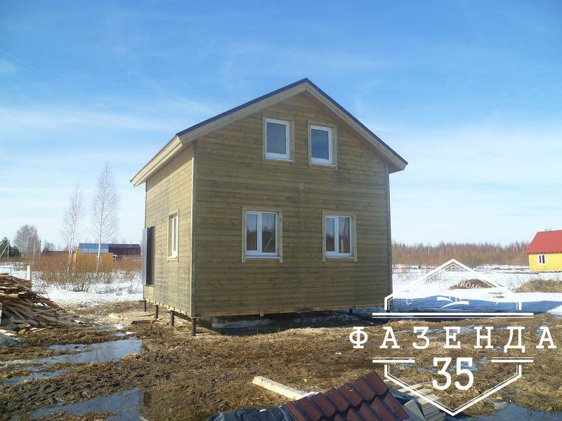 Строительство каркасного дома 6 на 6 с мансардой