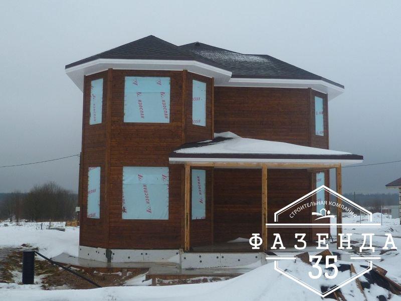 Строительство каркасного дома площадью 250 кв.м