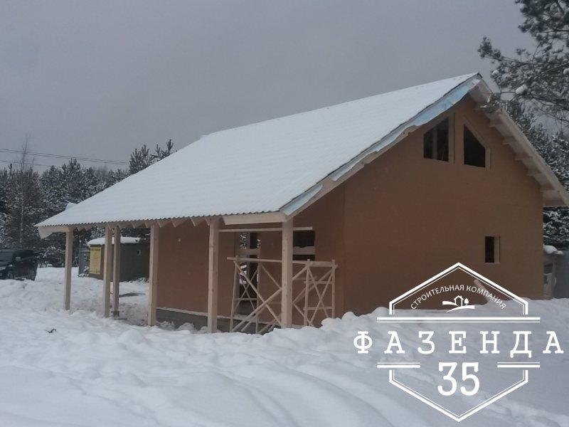 Строительство каркасного дома площадью 120 кв.м