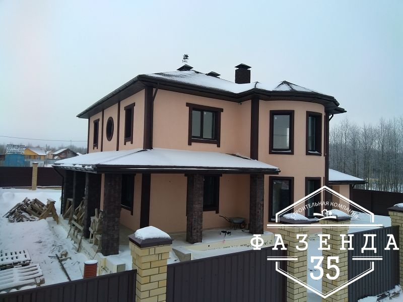 Строительство двухэтажного дома из арболита в Череповце