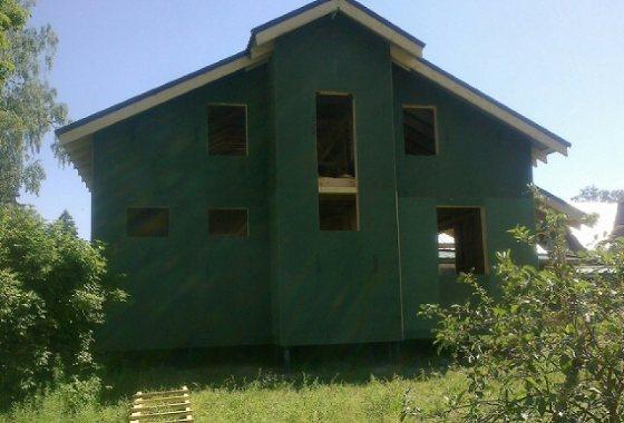 Строим каркасный дом 8х8 на винтовых сваях