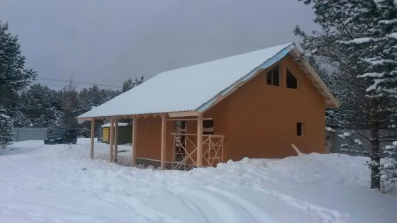 Строительство каркасного дома площадью 120 кв. м