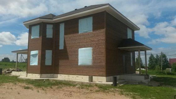 Строительство каркасного дома площадью 250 кв. м