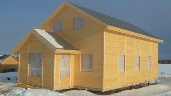 Каркасный дом на две семьи площадь 230 кв. м