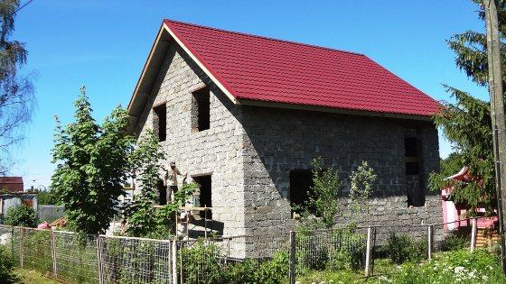 Дом из арболита на винтовых сваях в Чаево