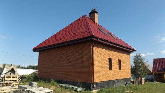 Строительство дома 9,5х9,5 из арболитовых блоков