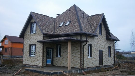 Строительство арболитового дома в Нове