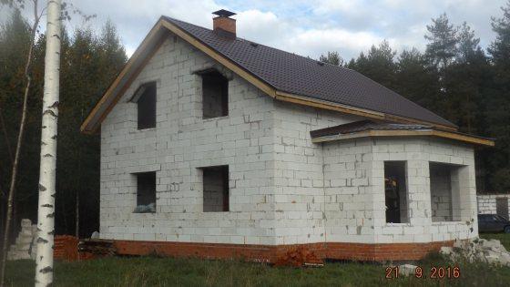 Построили газобетонный дом 10 на 14 под ключ