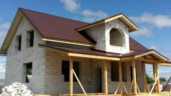 Фото дома из газобетона по нашему проекту