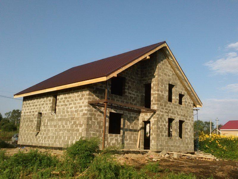 Строительство дома из арболита – арболитовых блоков