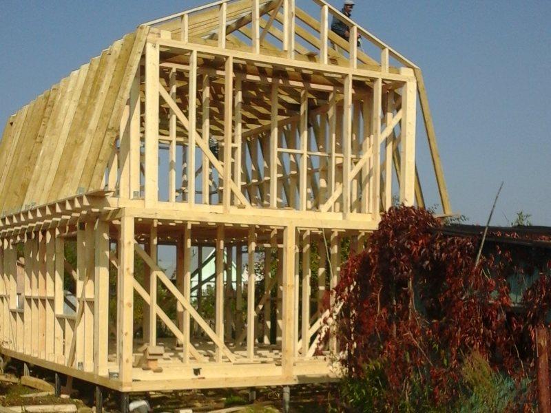 Строительство деревянного каркаса дачного дома