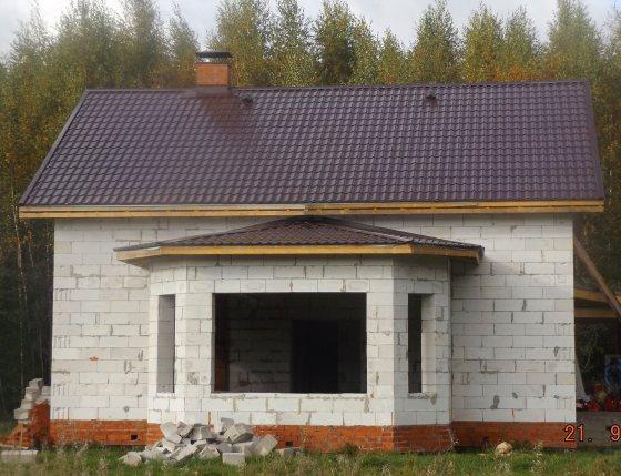 Строим дом из газобетона 10х14 недорого под ключ