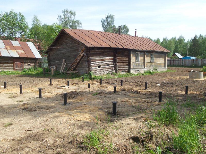 Монтаж фундамента на винтовых сваях в деревне Сойловская