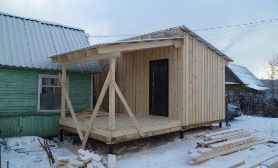 Строительство Barn House или Садовый домик в стиле сарай