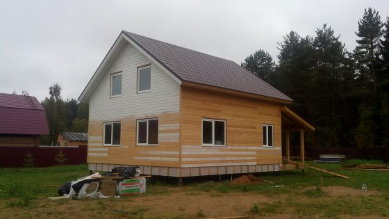 Строительство каркасного дома 8 на 8 по технологии «Платформа»