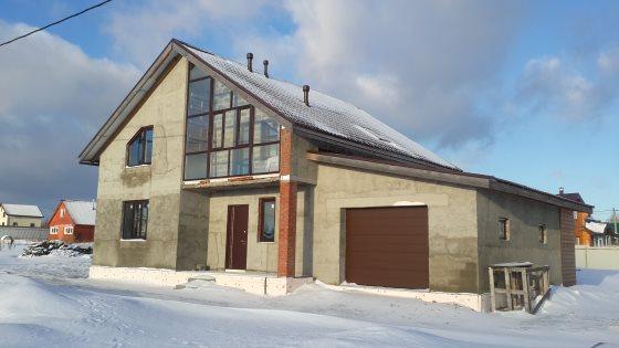 Построили дом из арболита в деревне Ванеево