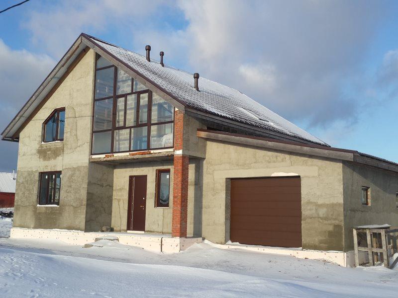 Строим дом из арболита с гаражом в Череповце
