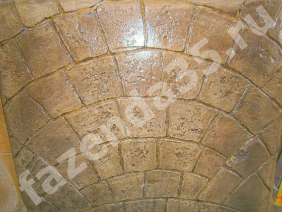 Фото штампованный декоративный бетон «Графито»