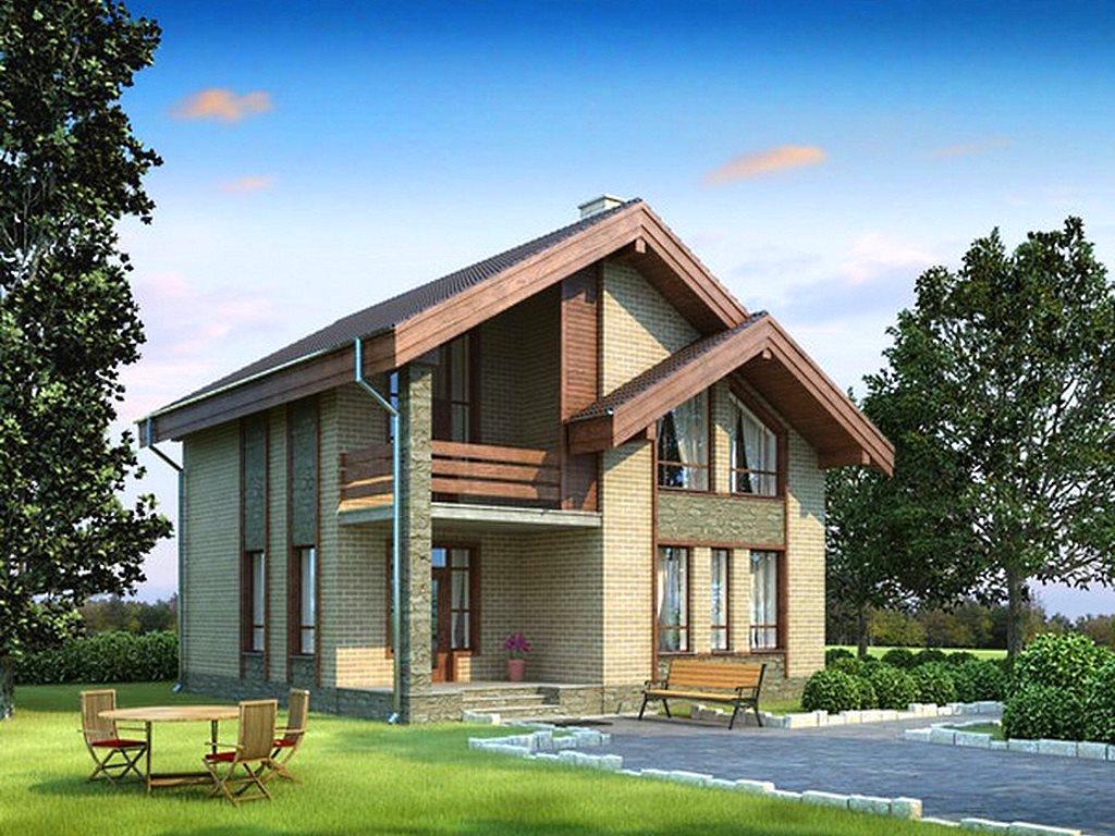 Типовой готовый проект дома из газобетона в полтора этажа