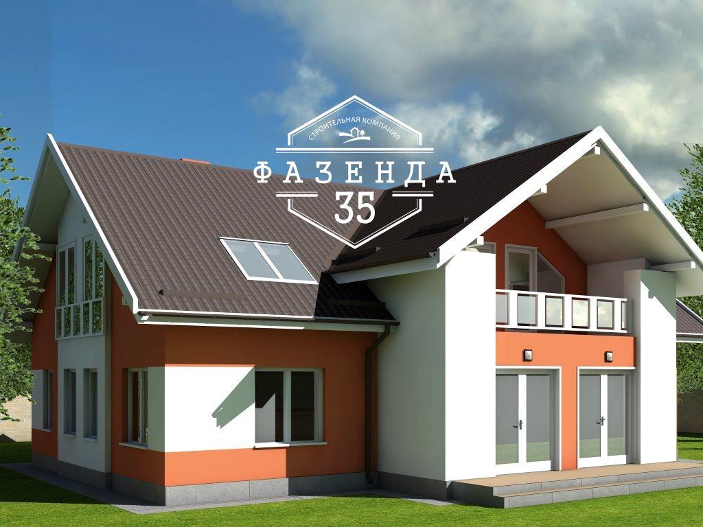 Проект двухэтажного дома из газобетона 14х14 метров - фото 2